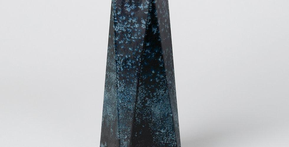 Deep Blue Mottled Obelisk