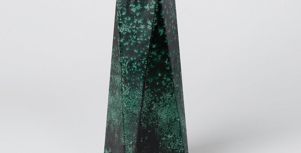 Deep Green Mottled Obelisk