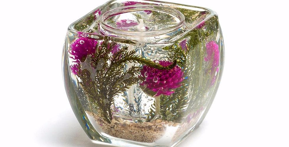 Green Fern & Purple Globe Amaranth