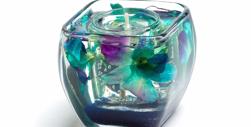 Turquoise Orchids on Royal Blue Sand