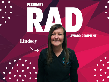 February RAD Winner - Lindsey O.