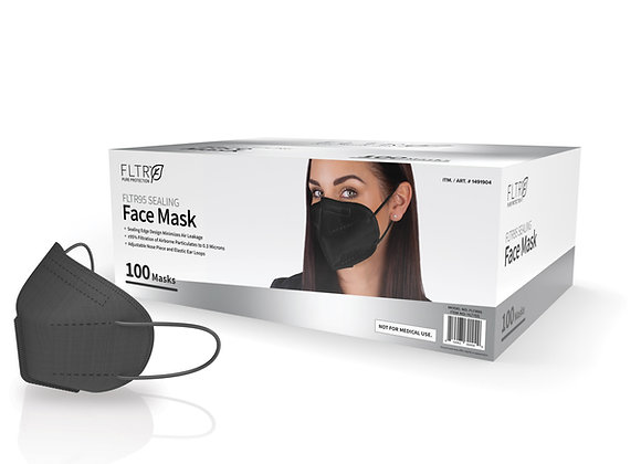 FLTR95 Sealing Face Masks 100PK - Black