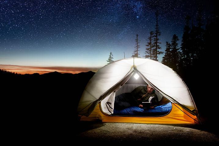 Camping with Ubio Labs LED lantern
