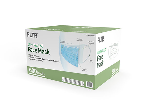 General Use Face Mask 600PK - Blue