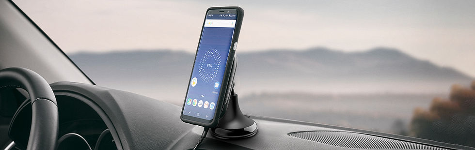 Ubio Labs wireless charging stand for car dashboard