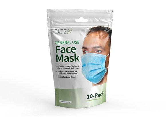 General Use Face Masks 10PK - Blue