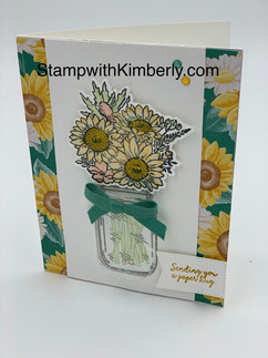 Stampin' Up! Jar of Flowers