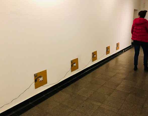 Rollkoffer von Venedig, 2019, Elektronik (Eigenbau), Variable Dimensionen
