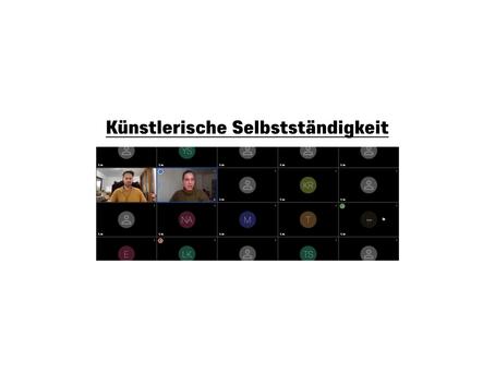 021 - Künstlerische Selbständigkeit, Vortrag von Lisa Bergmann und Simon Pfeffel
