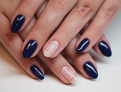 CND Shellac Winter Nights & hand painted