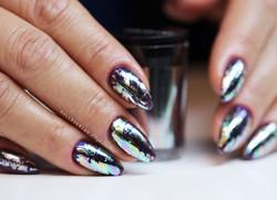 Oil slick foil from _lovelecente 😍 over