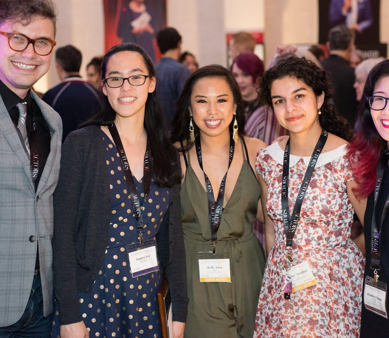 Evren Odcikin, Lauren Yee, Molly Adea, Ariana Mahallati, Lauren Yee Photo by Andrew McCawley