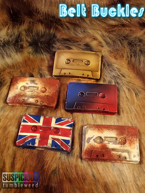 Cassette Tape Belt Buckles