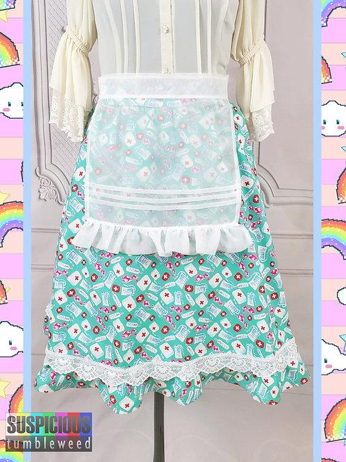 Medical Print Skirt (Apron Optional)