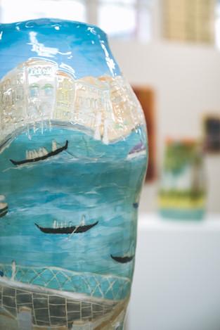 Close up of Venice vase