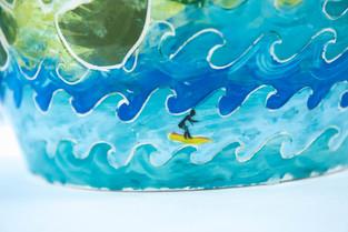 Close up of Costa Rica vase