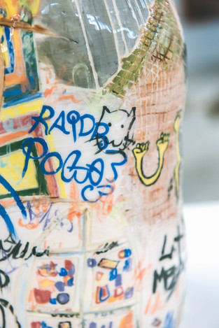 Close up of Berlin vase