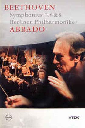 Beethoven* /Berliner Philharmoniker,Abbado*–Symphonies 1, 6 & 8 (Dvd Used)