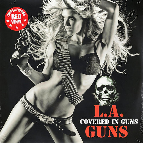 COVERED IN GUNS  L.A GUNS Limited edition red vinyl