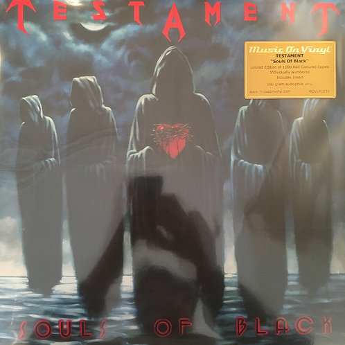 Testament (2) ‎– Souls Of Black limited edition red vinyl1000 copies only