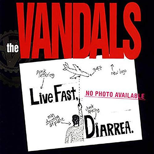Vandals ‎– Live Fast Diarrhea limited edition 25th anniversary brown Splattered