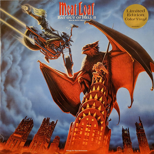 Meat Loaf ‎– Bat Out Of Hell II: Back Into Hell limited edition color vinyl