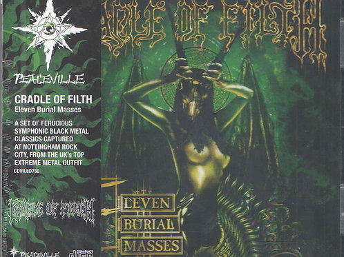 Cradle Of Filth ‎– Eleven Burial Masses CD