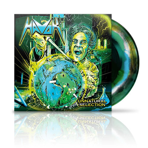 Havok  – Unnatural Selection Black / Green With White And Blue Swirl lp