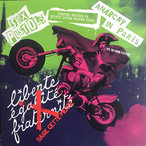 Sex Pistols ‎– Anarchy In Paris silver vinyl