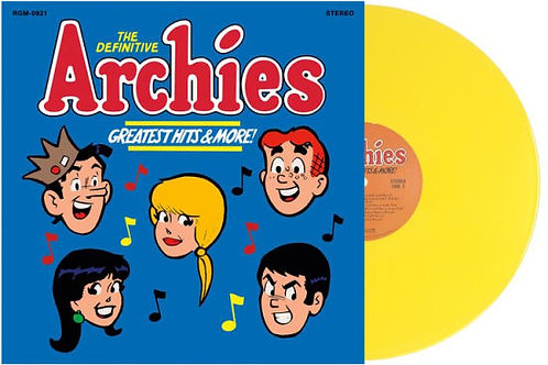 Archies* ‎– The Definitive Archies - Greatest Hits & More [Yellow Vinyl] [B&N Ex