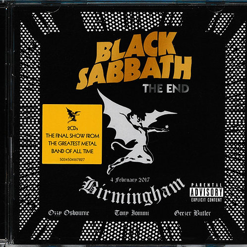 Black Sabbath – The End (4 February 2017 - Birmingham) CD