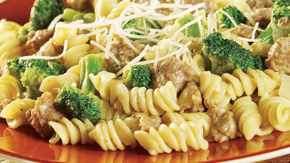 Cauliflower Pasta w/ Sausage & Broccoli
