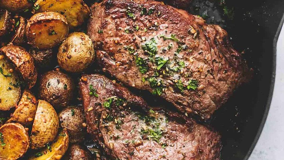 Ribeye (4oz) Steak & Roasted Potatoes