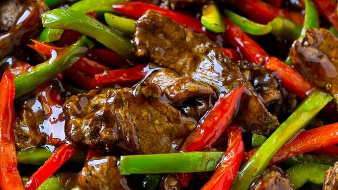 Pepper Steak & Brown Jasmine Rice