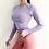 Thumbnail: Women Seamless Long Sleeve Crop Top Running Jacket