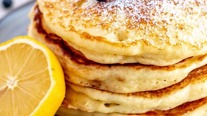 Lemon Ricotta Pancakes & Southwest Scramble