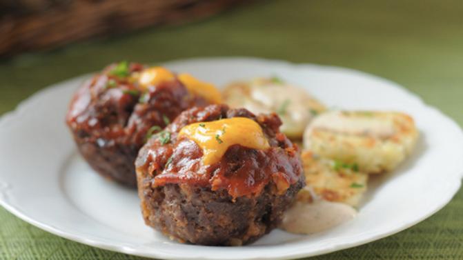 Mini Meatloaf Bites & Cauliflower