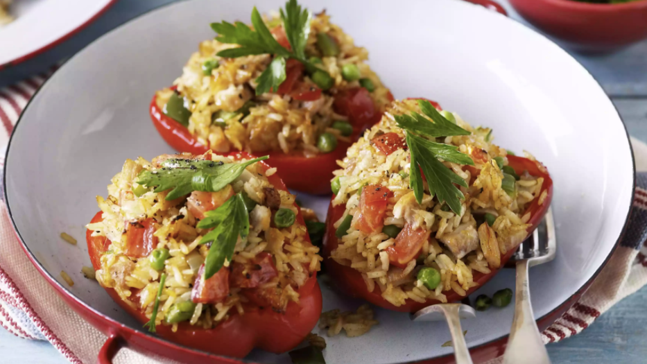 Chicken n Rice Stuffed Peppers