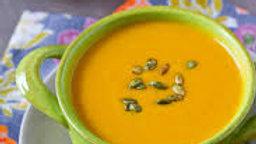 Autumn Squash Soup w/ Cranberries