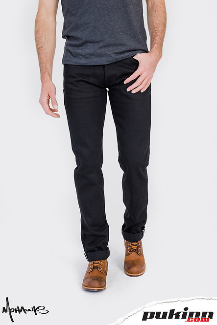 TOBACCO Japanese Double Black Selvedge Protective Riding Jeans