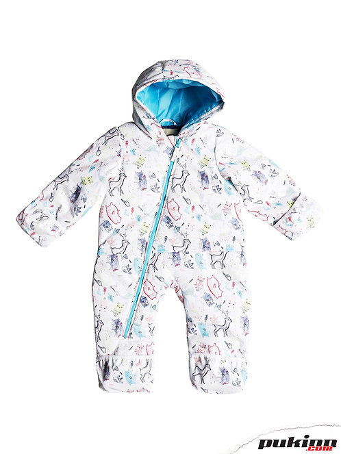 ROXY BABY ROSE SNOW SUIT BRIGHT WHITE_ANIMALS PARTY