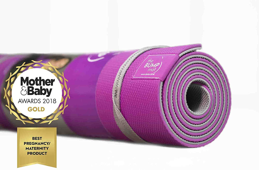 The Bump Mat pregnancy yoga mat recommended