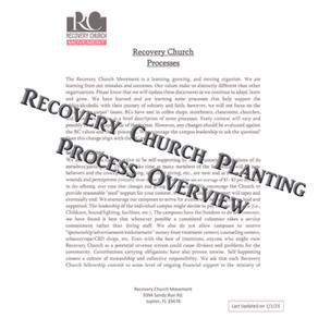 Recovery Church Planting Process Overview