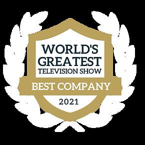 worlds greatest tv show award badge