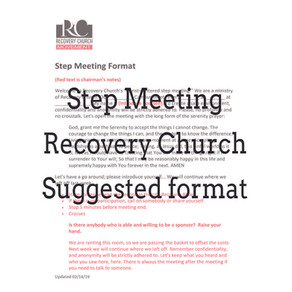 Suggested Step Meeting Format