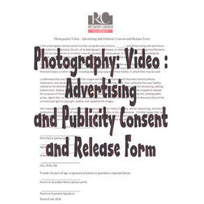 Photography / Video / Advertising and Publicity Consent and Release Form