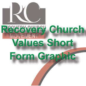 Recovery Church Values Short Form Graphic