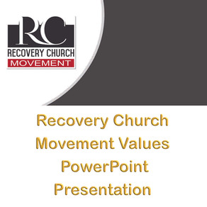 Recovery Church Movement Values PowerPoint Presentation