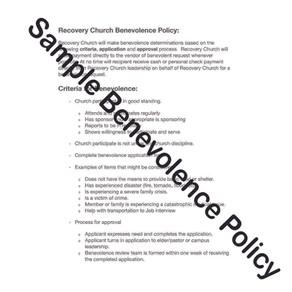 Sample Benevolence Policy