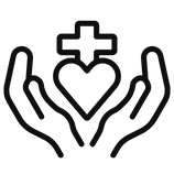 Prayer with hands icon